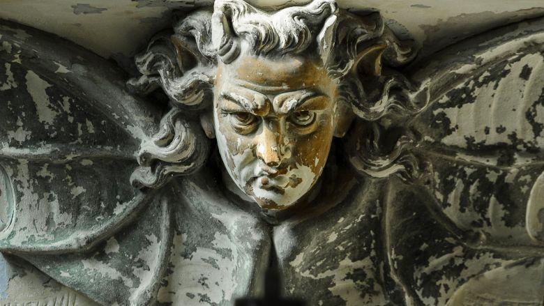Représentation du diable, avec des ailes de chauve-souris. / © Jean-Marc Quinet / MaxPPP