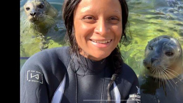Elodie Sene est soigneuse animalière au Seaquarium du Grau-du-Roi depuis neuf ans / © Elodie Sene (Seaquarium)