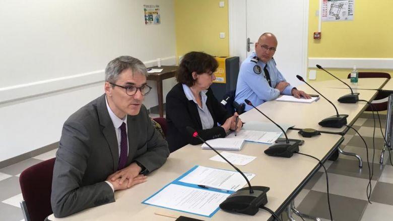 La conférence de presse de Chantal Mauchet, Préfète de l'Ariège et du Procureur Laurent Dumaine / © Pascal Dussol/FTV